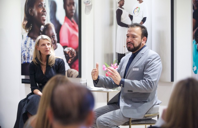 Cartier Philanthropy's executive director Pascale de la Fregonniere and Frank Beadle de Palomo, ceo of Mothers2Mothers