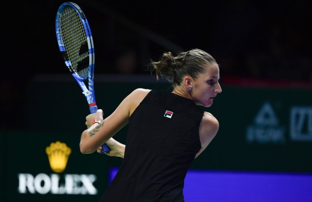 2018 BNP Paribas WTA FINALS,SingaporeKarolina Pliskova (CZE) defeated Caroline Wozniacki (DEN) 62 64Photo © Ray Giubilo