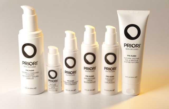 The TTC collection from Priori Skincare.