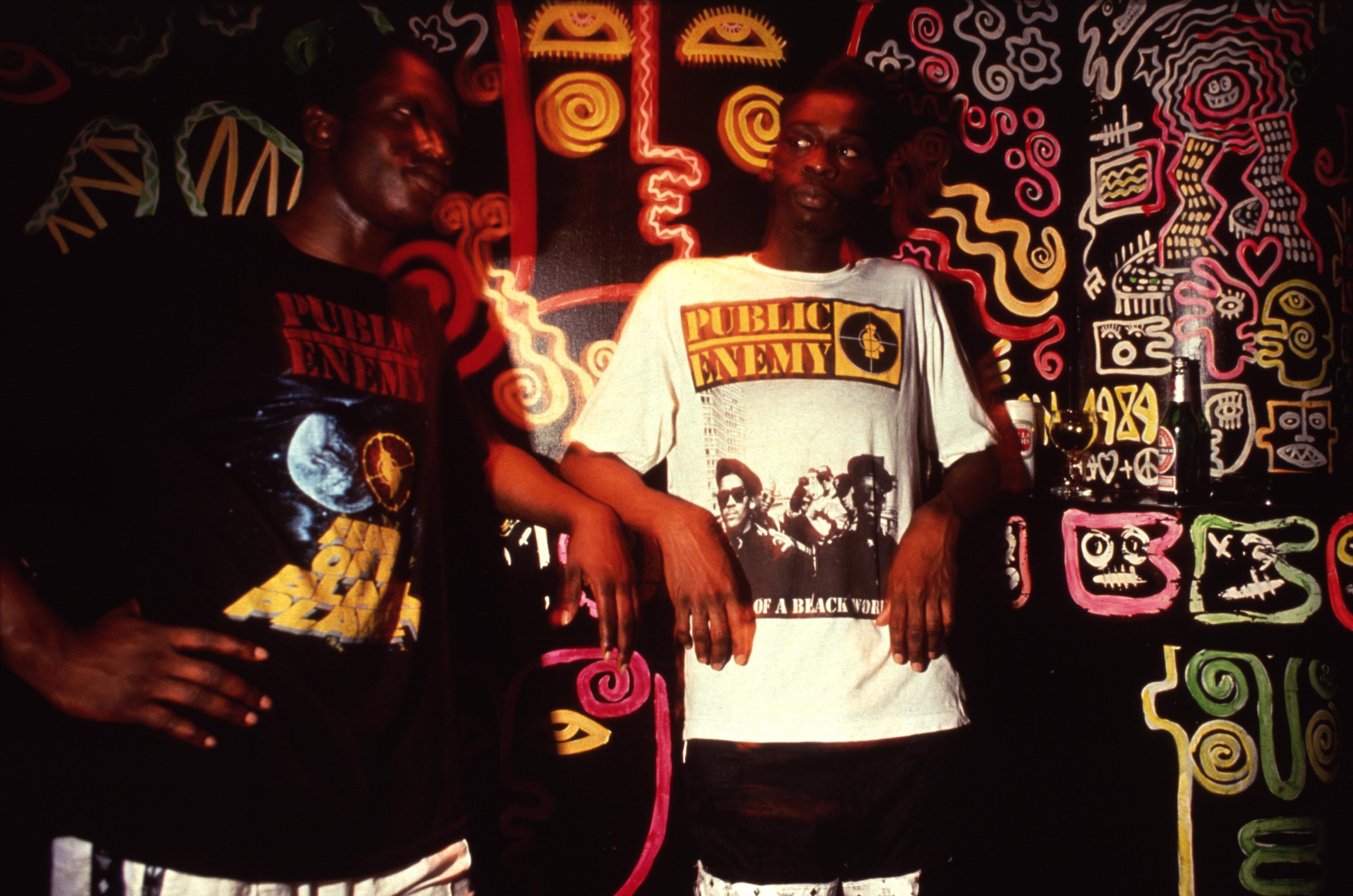 Depop x Youth Club archival photo of Public Enemy