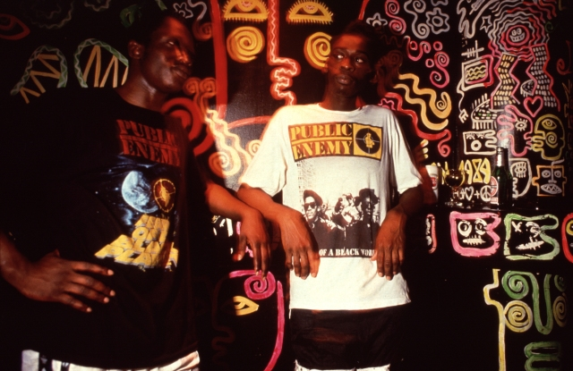 Depop x Youth Club archival photo of Public Enemy