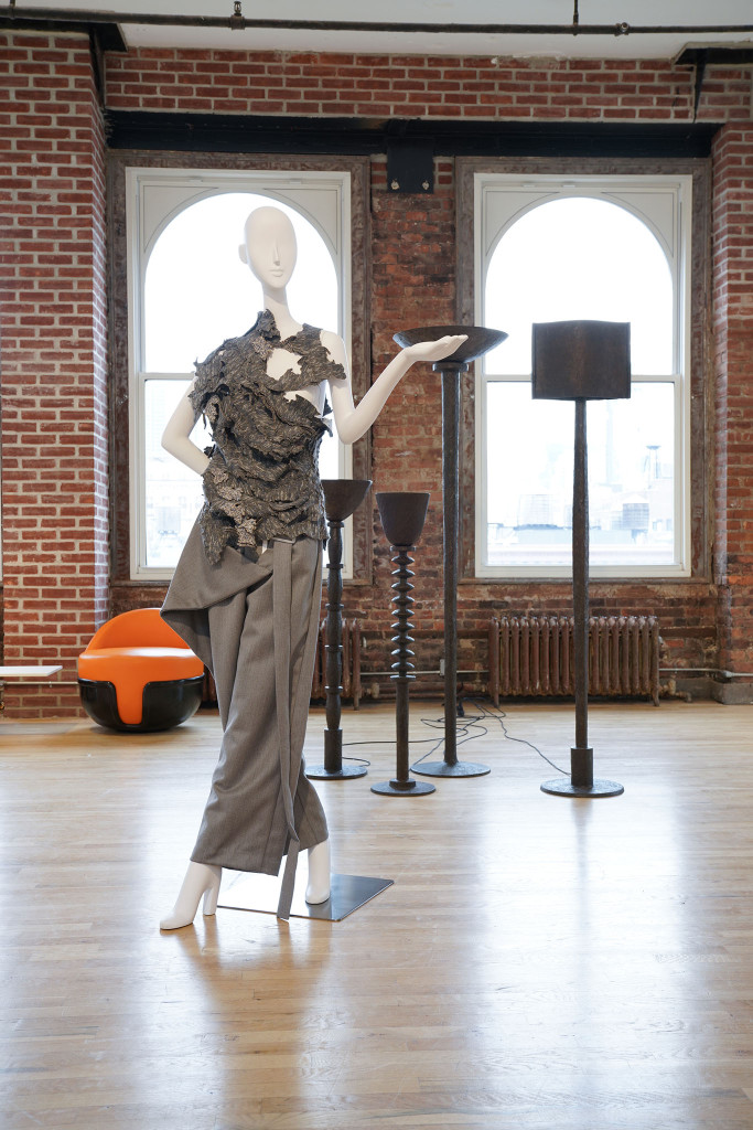 Looks from Pratt seniors displayed on Pucci mannequins.