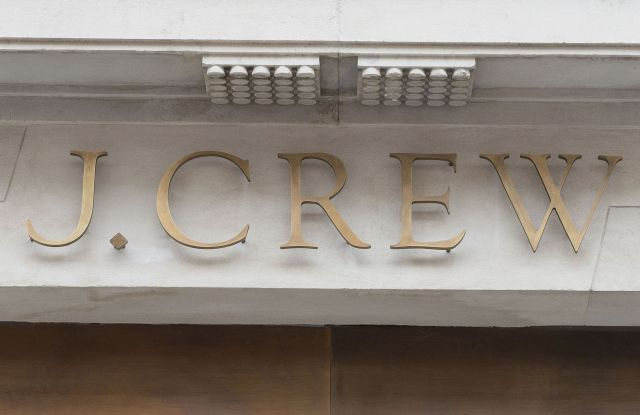 Store logo signOpening of J Crew Store in Regent Street, London, Britain - 08 Nov 2013