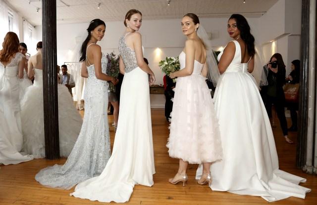 ModelsDavid's Bridal, Spring 2018, Bridal Fashion Week, New York, USA - 19 Apr 2017