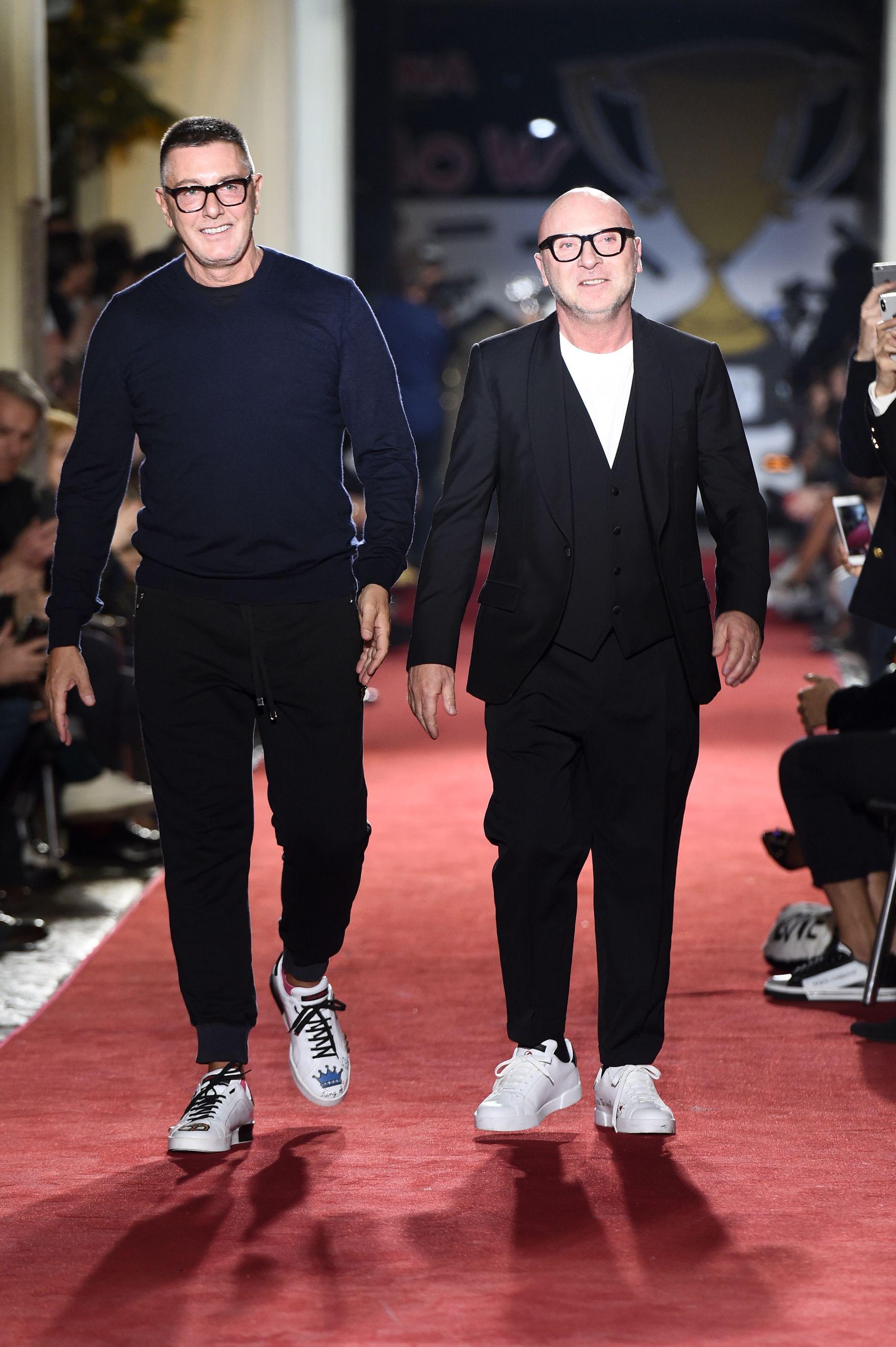 Stefano Gabbana, left, and Domenico Dolce, right.