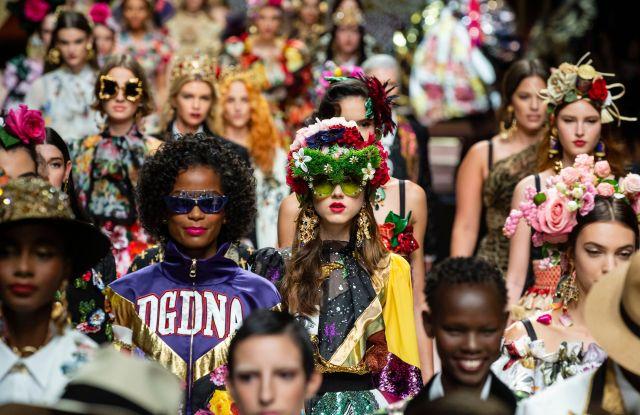 Models on the catwalkDolce & Gabbana show, Runway, Spring Summer 2019, Milan Fashion Week, Italy - 23 Sep 2018