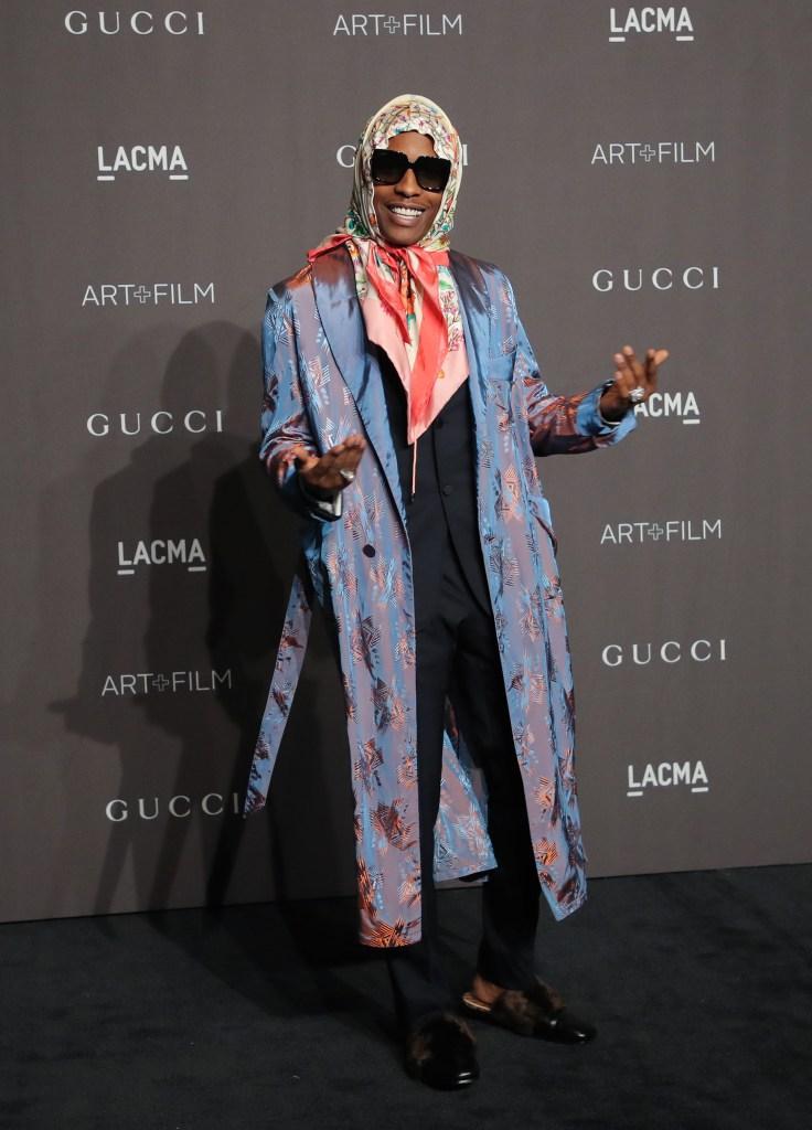 Asap RockyLACMA: Art and Film Gala, Los Angeles, USA - 03 Nov 2018Wearing Gucci