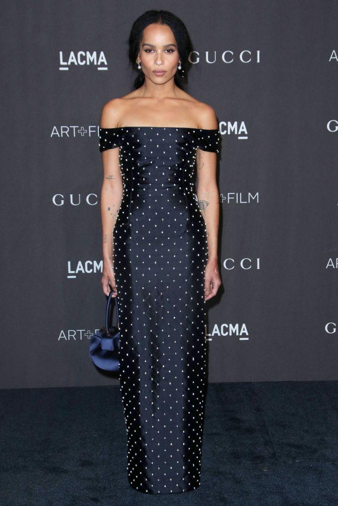 Zoe KravitzLACMA: Art and Film Gala, Los Angeles, USA - 03 Nov 2018Wearing Gabriela Hearst Same Outfit as catwalk model *9879316ad