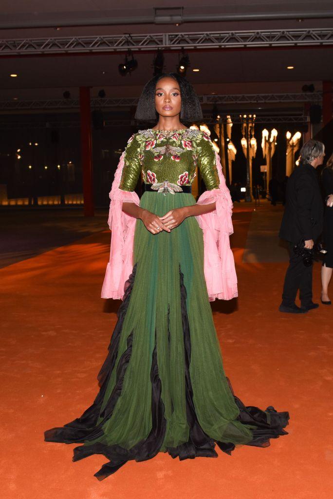 KiKi LayneLACMA: Art and Film Gala presented by Gucci, Los Angeles, USA - 03 Nov 2018Wearing Gucci