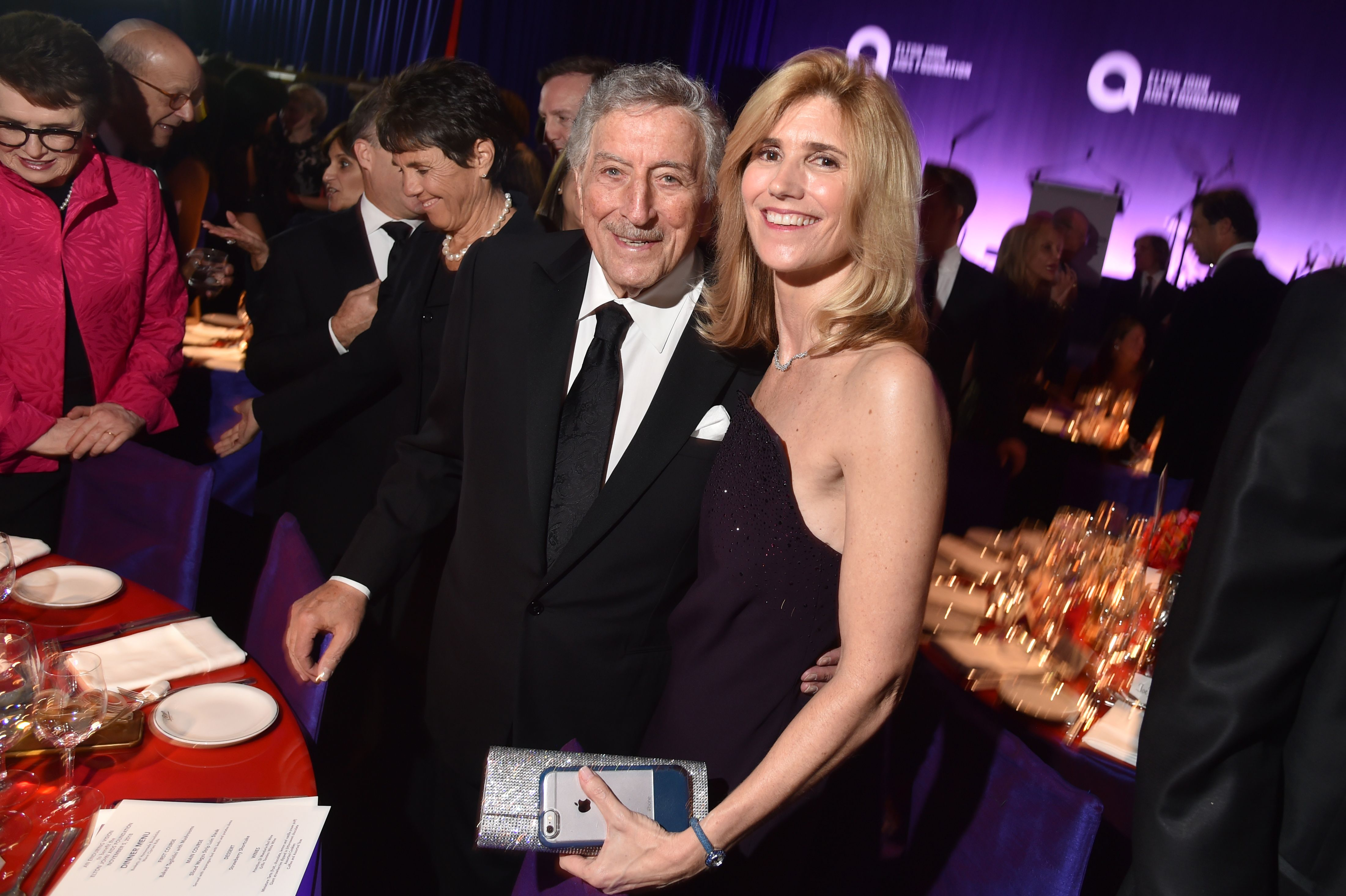 Tony Bennet and Susan CrowElton John AIDS Foundation's 17th Annual 'An Enduring Vision' Benefit Gala, Inside, New York, USA - 05 Nov 2018