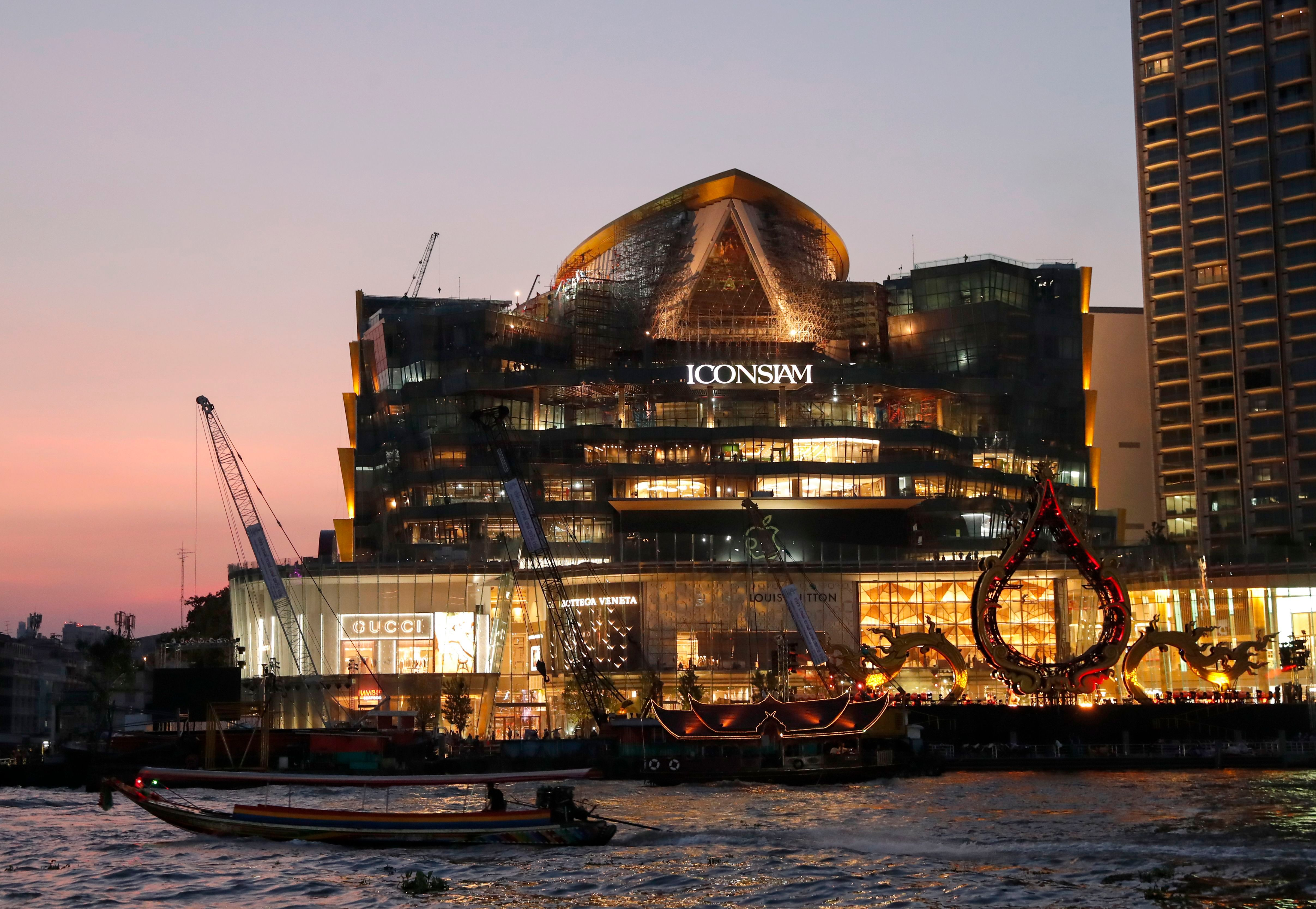 IconSiam, which sits on the banks of Chao Phraya River in Bangkok.
