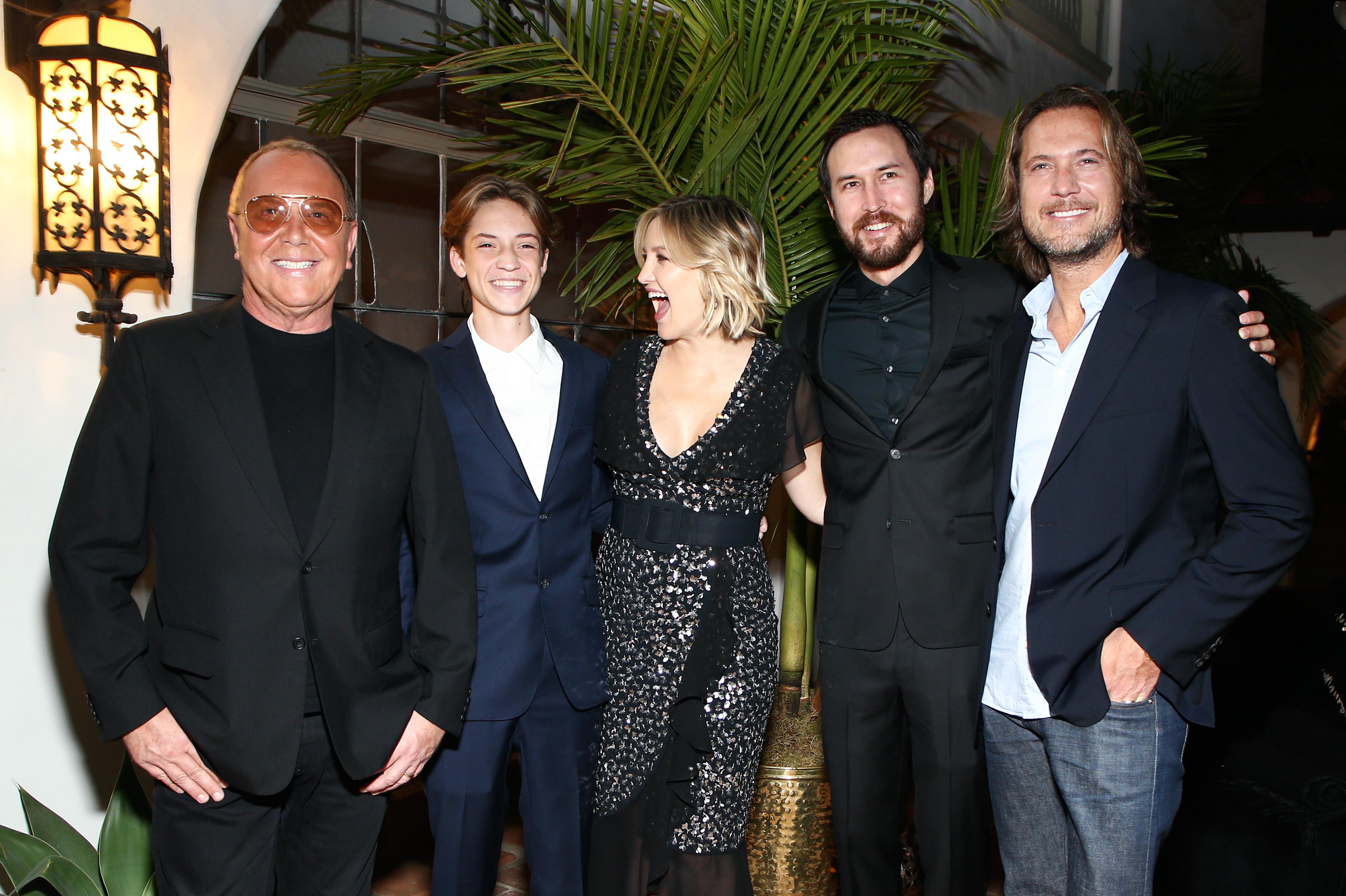 Michael Kors, Ryder Robinson, Kate Hudson, Danny Fujikawa and Lance La PeareMichael Kors x Kate Hudson dinner, Inside, Los Angeles, USA - 07 Nov 2018