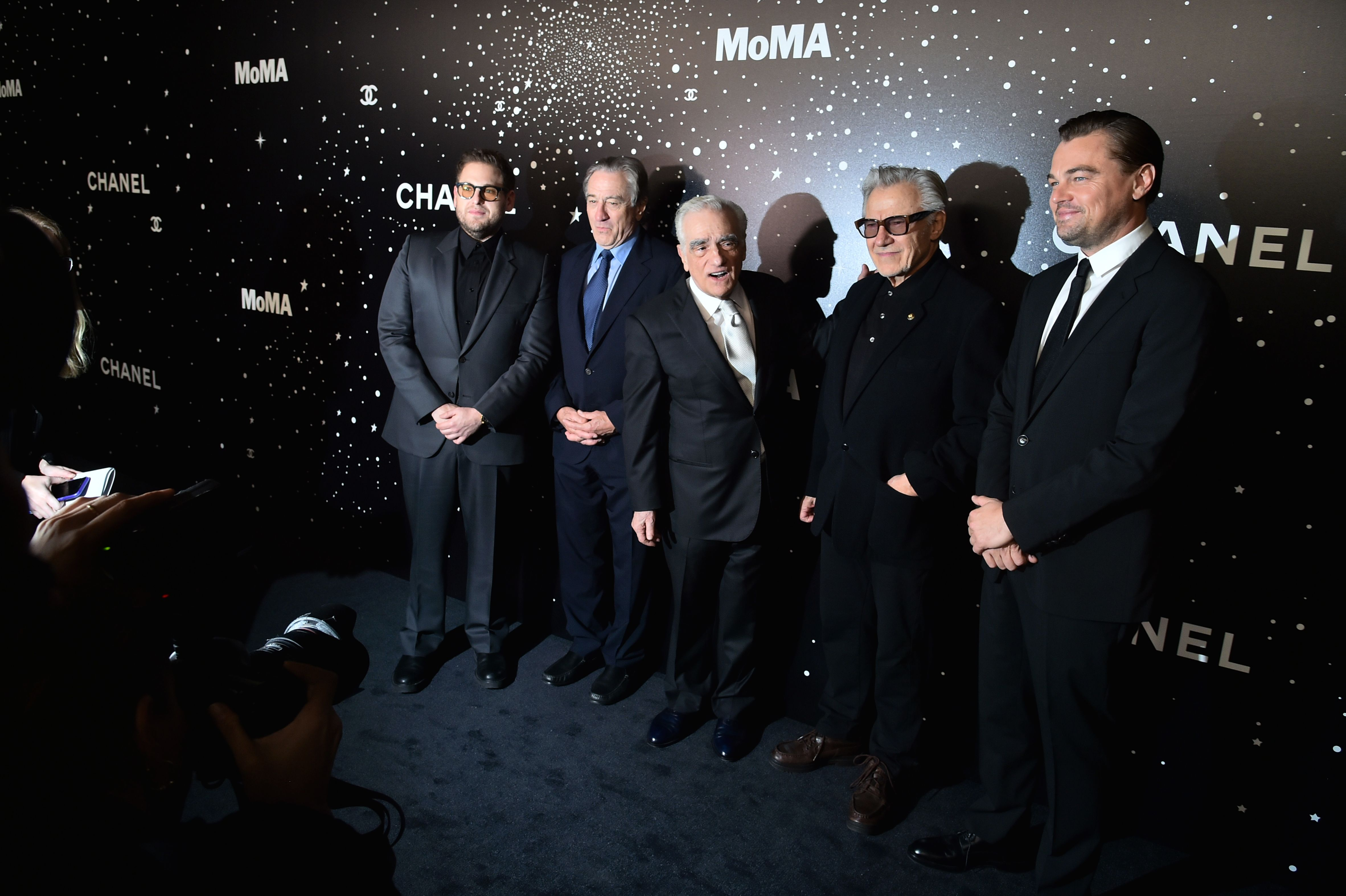 Jonah Hill, Robert DeNiro, Martin Scorsese, Harvey Keitel and Leonardo DiCaprioMuseum of Modern Art's 11th Annual Film Benefit presented by Chanel, Arrivals, New York, USA - 19 Nov 2018