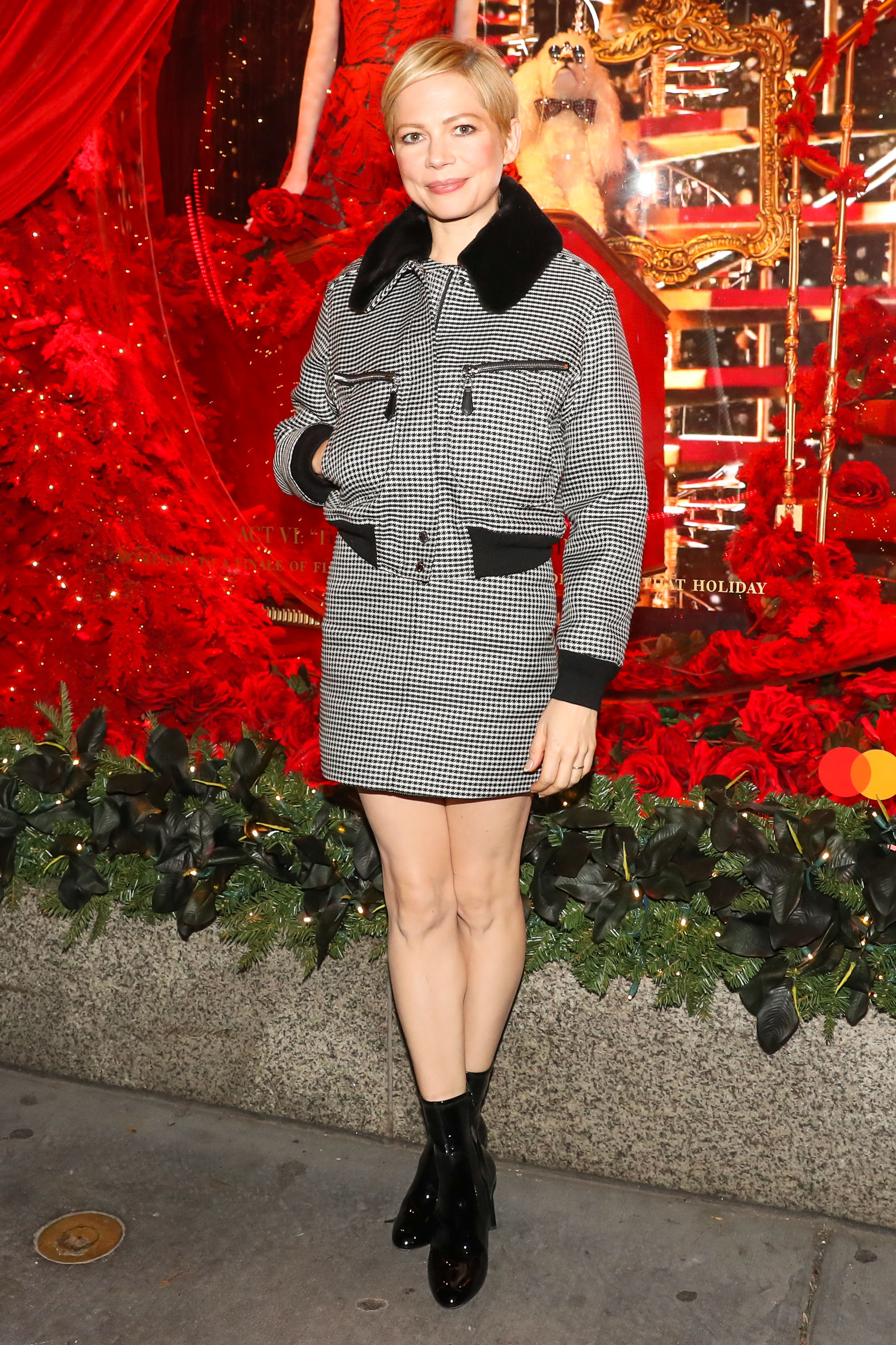 Michelle Williams'Theater of Dreams' holiday windows and light show, New York, USA - 19 Nov 2018