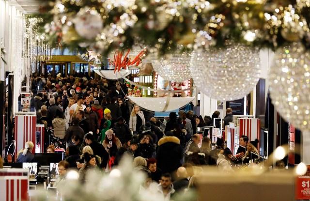 Black Friday holiday shopping Macy's New York