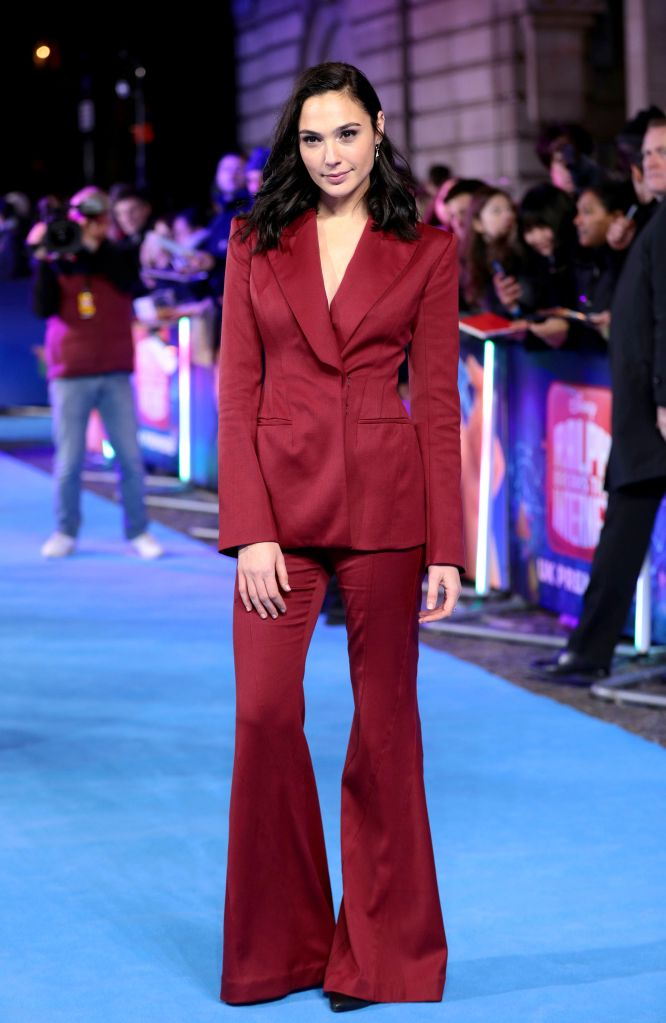 Gal Gadot'Ralph Breaks the Internet' film premiere, London, UK - 25 Nov 2018Wearing Mugler