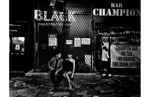 A photo by Daido Moriyama for Saint Laurent's Self project.