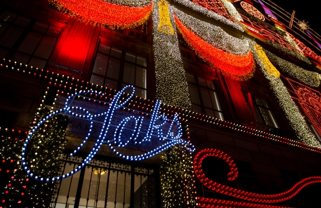 Saks Fifth Avenue's flagship holiday display in New York.