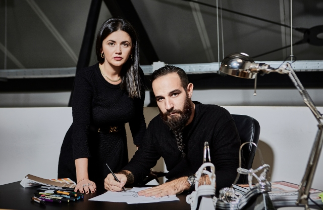 Francesca Monaco and Salar Bicheranloo, the design duo behind Salar Milano.