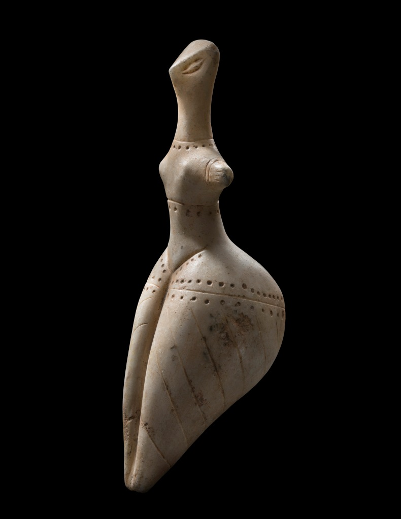 Neolithic European Idol in marble, fifth to fourth millennium B.C., at Phoenix Ancient Art.