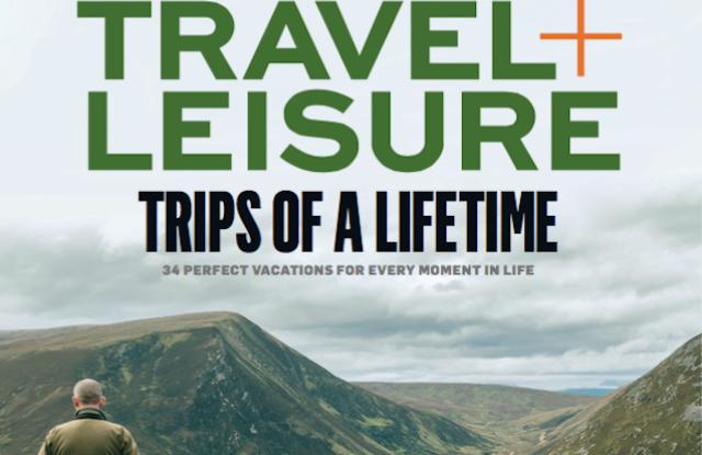Travel + Leisure's November issue.