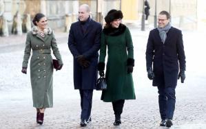 Princess Victoria, Prince William, Kate Middleton and Prince Daniel