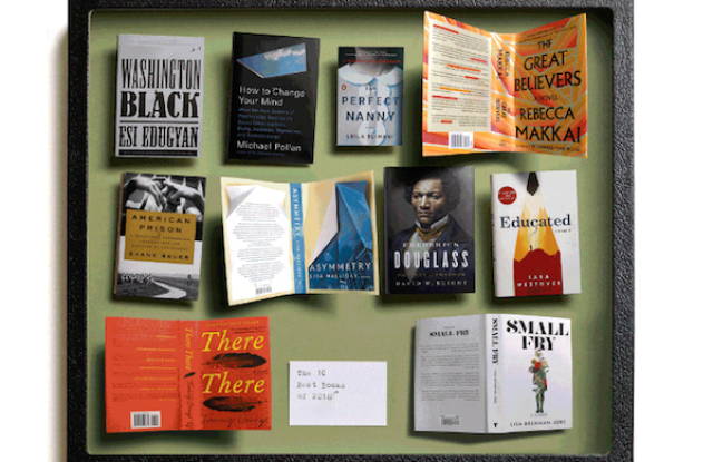 An image of the New York Times new Best Books list.