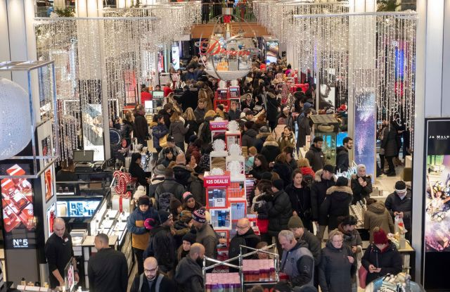 Macy's Herald Square opens its doors at 5 p.m. on Thanksgiving Day for thousands of early Black Friday shoppers in search of amazing sales, door buster deals, and limited time offers on in New YorkHerald Square Black Friday Opening, New York, USA - 22 Nov 2018
