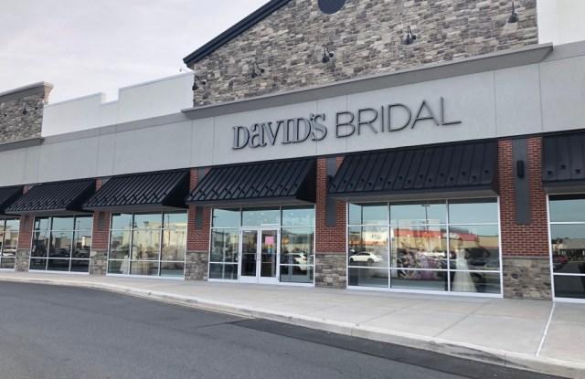 A David's Bridal storefront in Wilmington, Del.