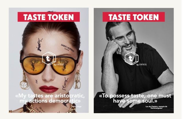 A look at L'Officiel's new campaign for its launch of Taste Tokens, a virtual currency it will pay to its audience.