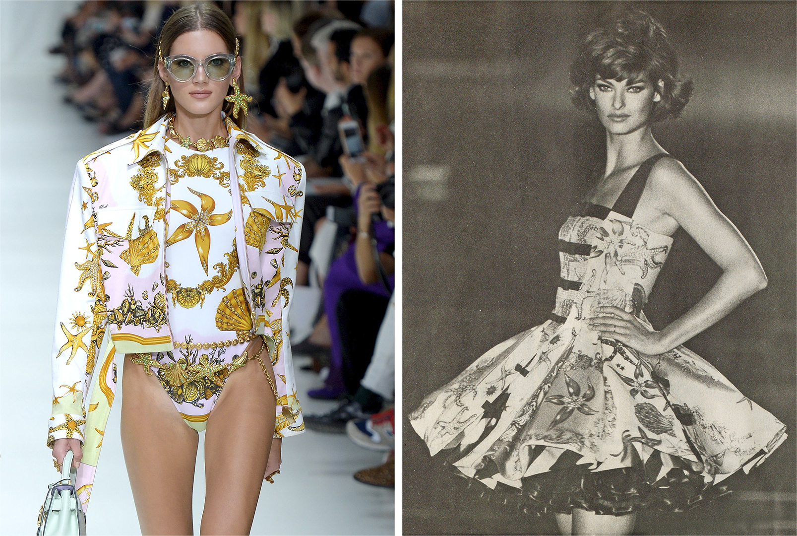 Right: Versace RTW Spring 1992; Left: Versace RTW Spring 2018