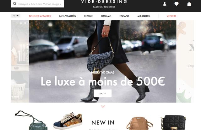 videdressing.com homepage