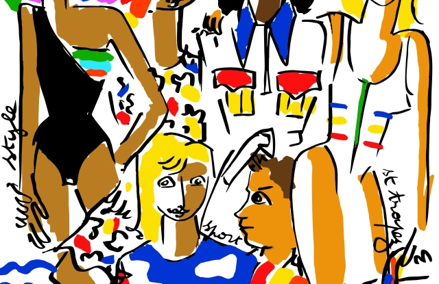 An illustration by Jean-Charles de Castelbajac for the capsule.