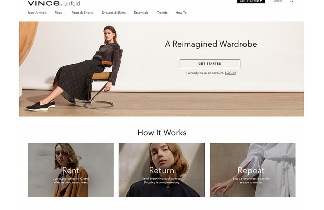 The homepage of Vince Unfold.