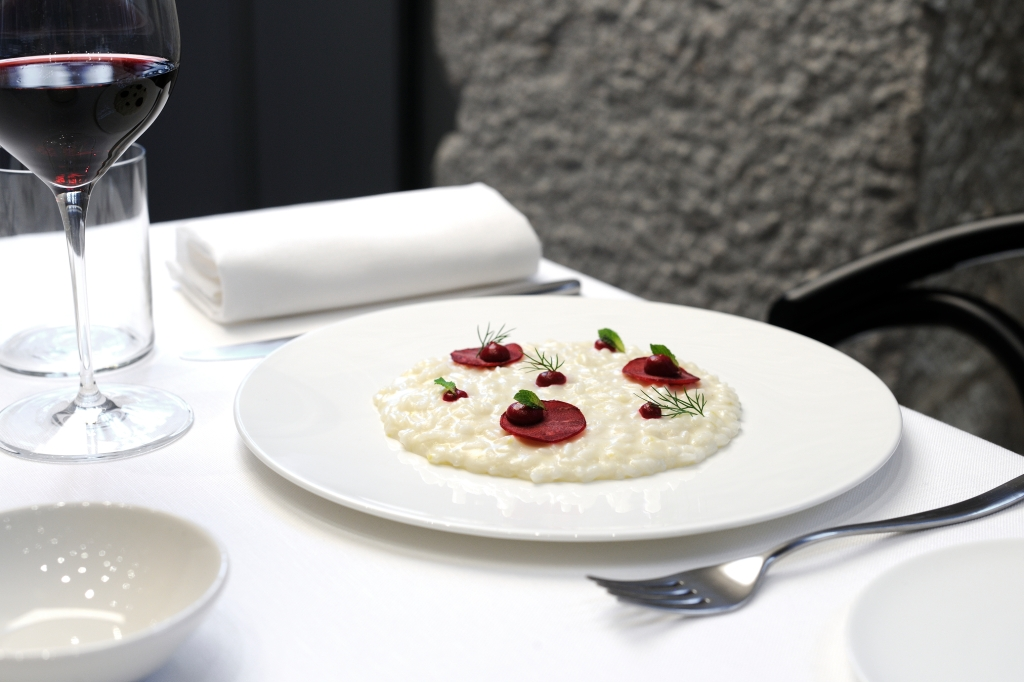 One of the dishes served at the Voce restaurant.