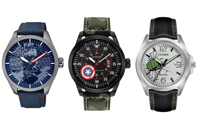Citizen watches inspired by Marvel Characters, reveled at New York Comic Con