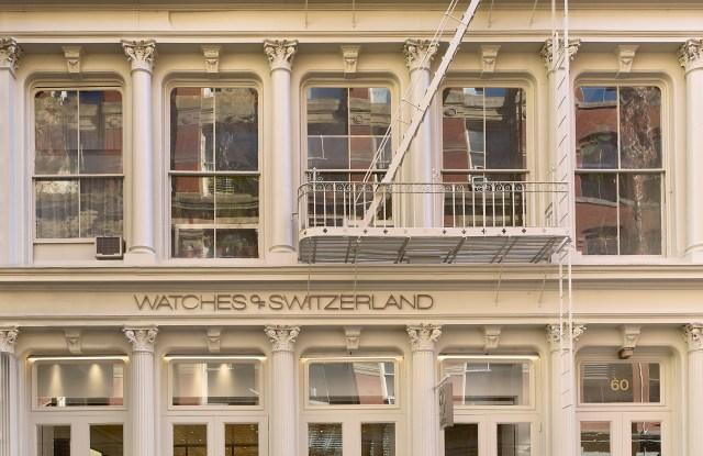 Watches of Switzerland SoHo storefront