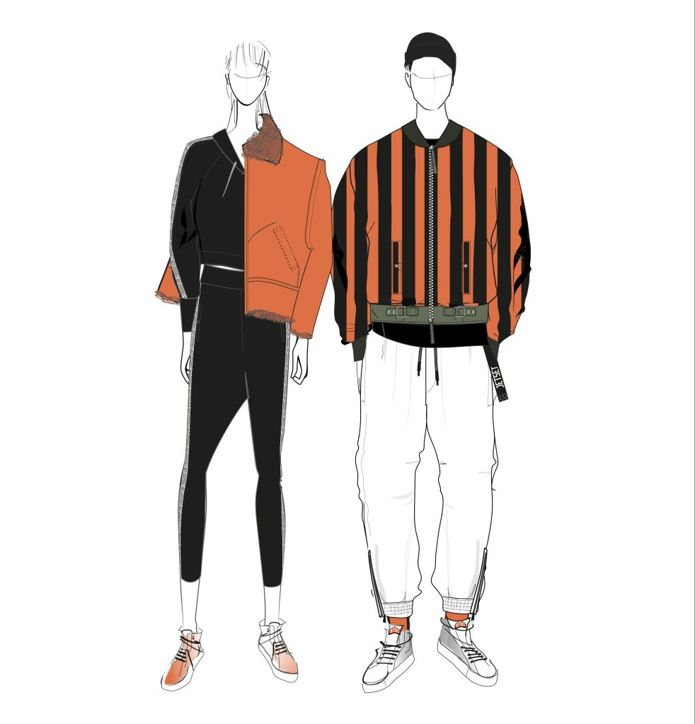 Sketches from Jet Set fall 2019 collection
