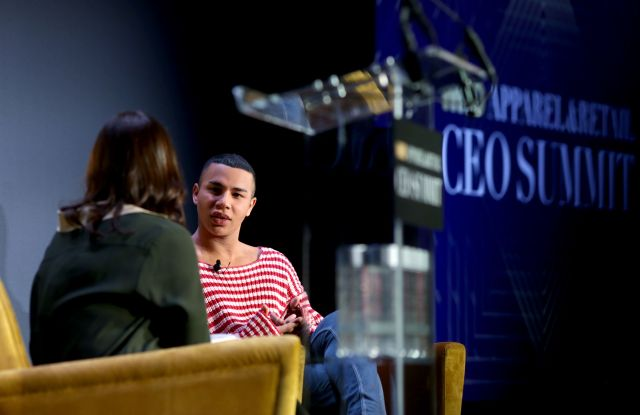 Bridget Foley and Olivier RousteingWWD Apparel and Retail CEO Summit, New York, USA - 31 Oct 2018