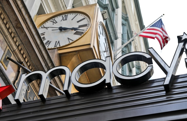Macys. This, photo shows corporate signage at Macy's flagship store in Manhattan, in New York. Macy's Inc. reports earnings Thursday, Nov. 9, 2017Earns Macys, New York, USA - 02 May 2017