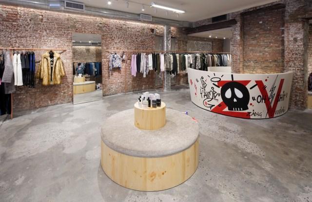 Inside Zadie & Voltaire store.