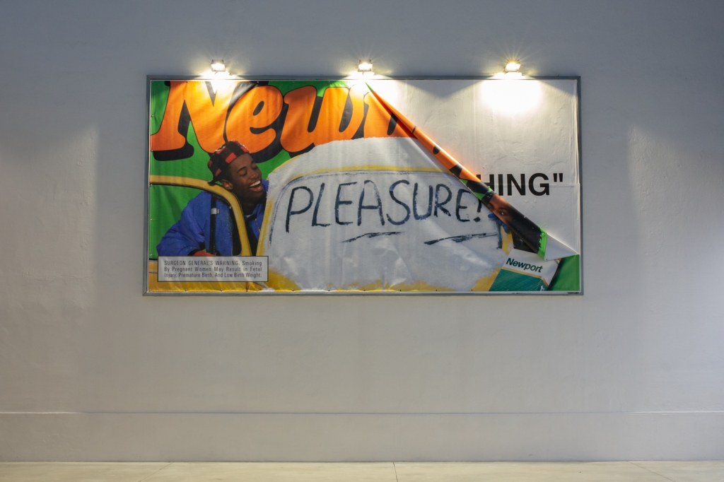 Virgil Abloh's artwork at Spazio Maiocchi in Milan
