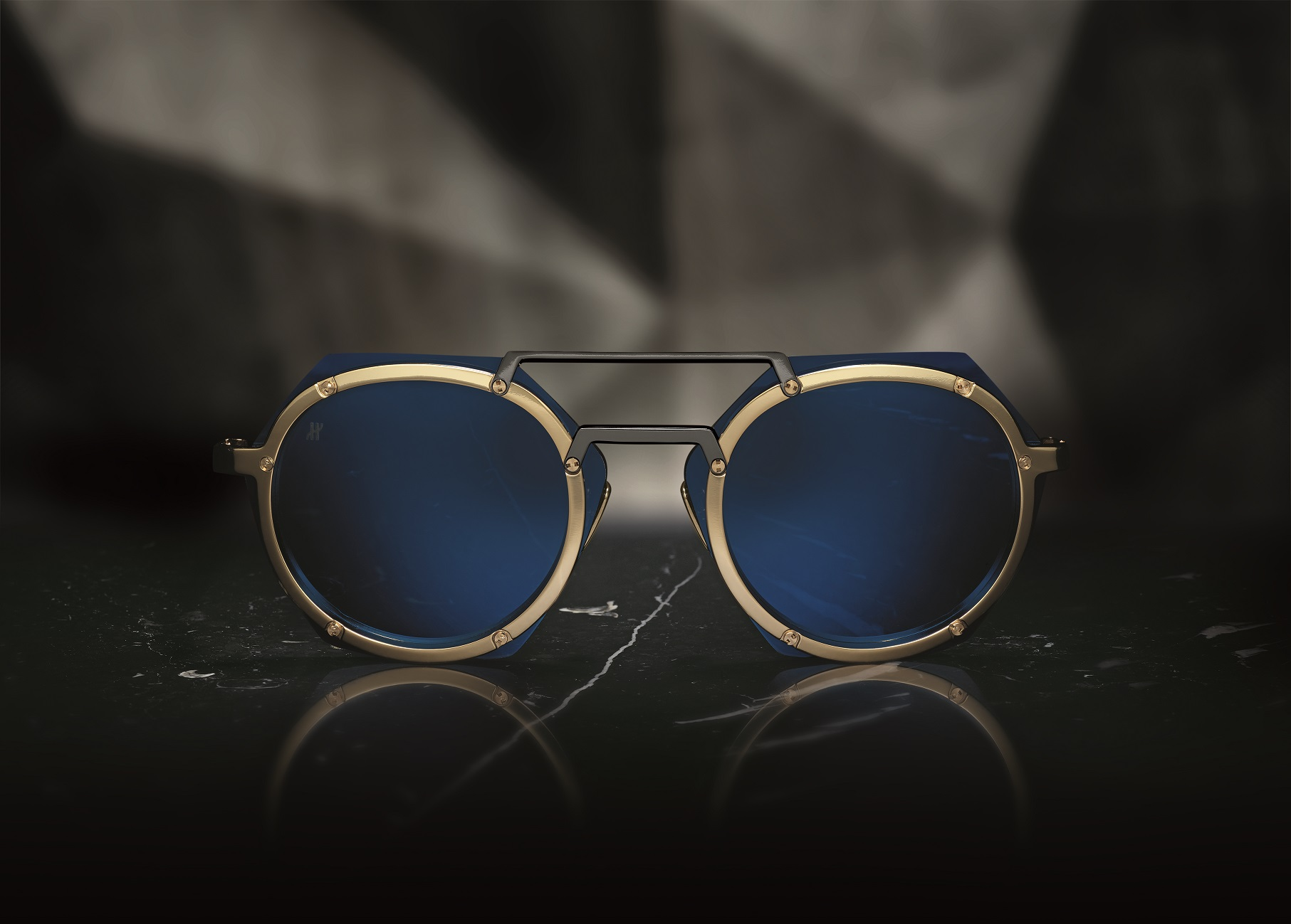 A picture from the Hublot Eyewear collection by Italia Independent ad campaign.