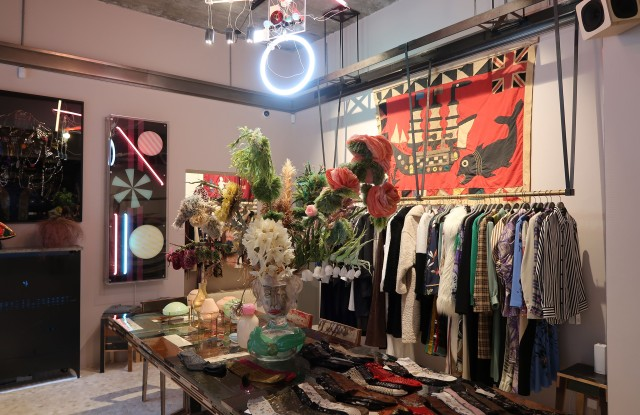 Inside the Holly Golightly store.