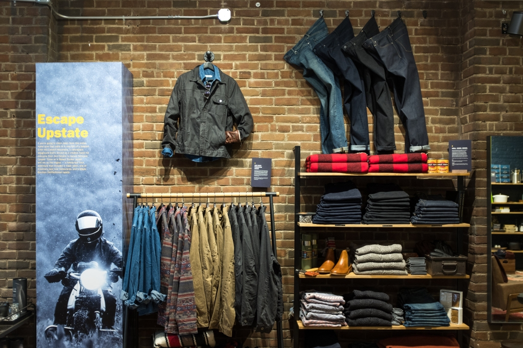 Huckberry took a pop-up space but is considering making it permanent.