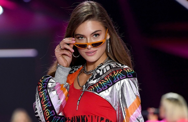 NEW YORK, NY - NOVEMBER 08:  Grace Elizabeth walks the runway during the 2018 Victoria's Secret Fashion Show at Pier 94 on November 8, 2018 in New York City.  (Photo by Dimitrios Kambouris/Getty Images for Victoria's Secret)