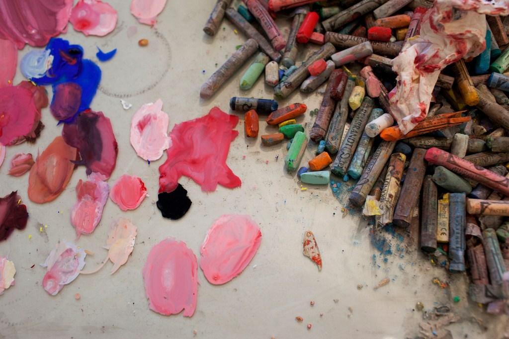Inside Natalie Frank's artist studio.