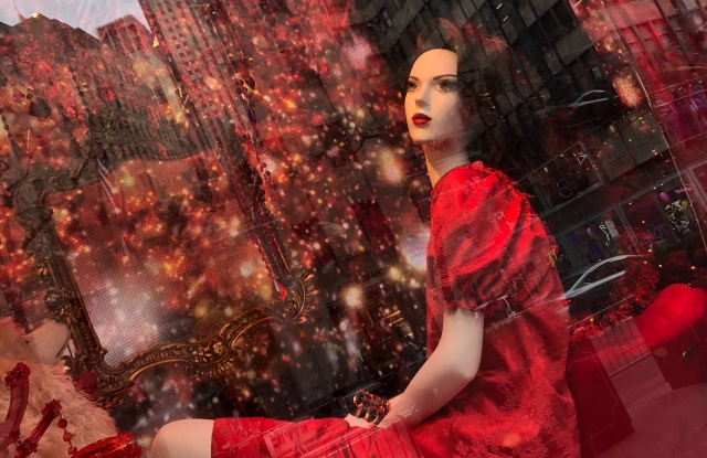 The holiday window display at Saks Fifth Avenue in New York.