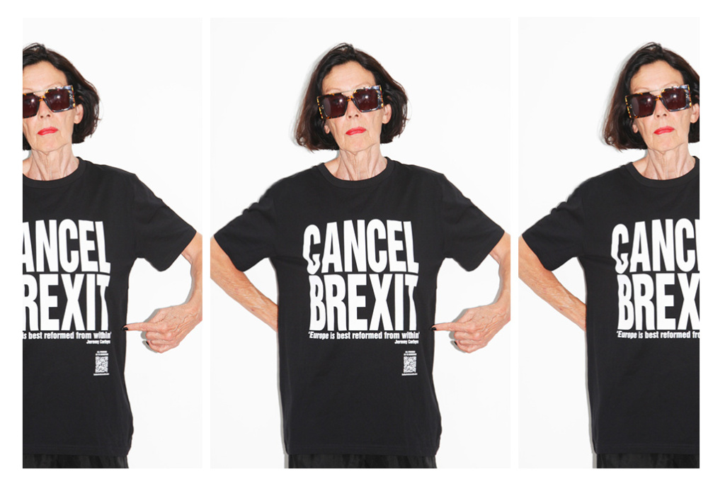 The designer famous for her slogan T-shirts hasn't stopped fighting for the environment, among other causes