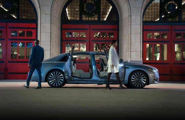 Lincoln Continental's Coach Doors open from the center.